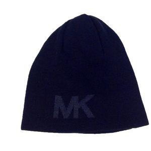 NWT Michael Kors Reversible MK Knit BLACK Beanie